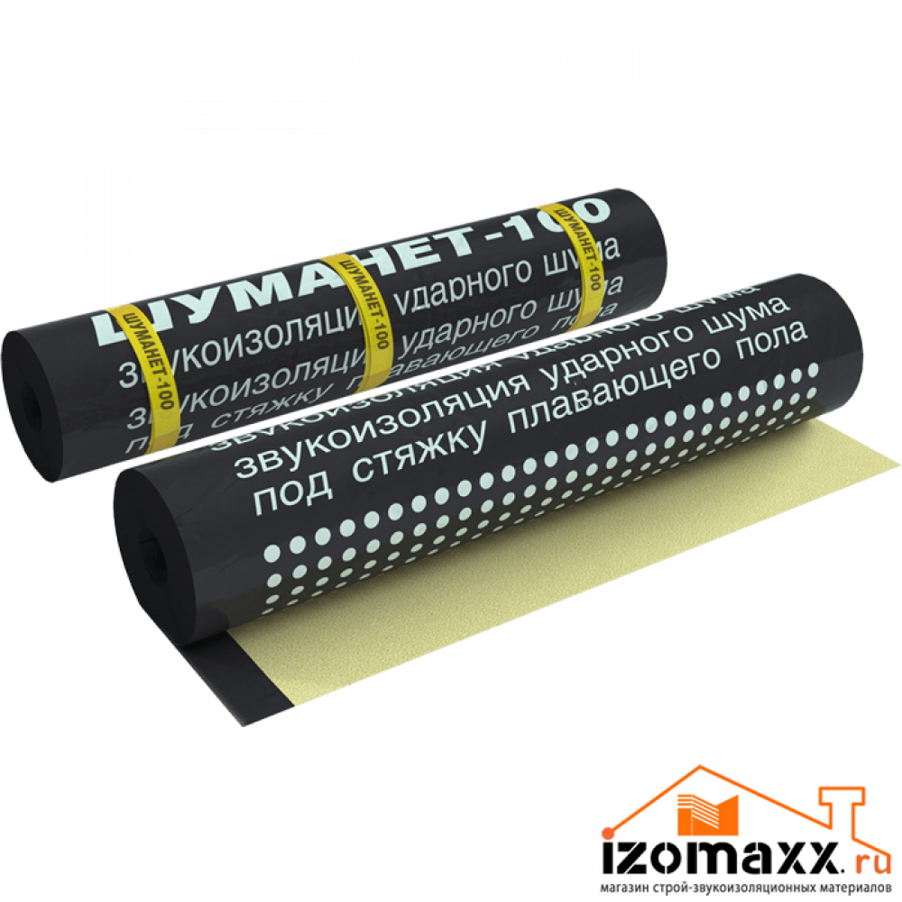 Шуманет-100 Комби Гидро-звукоизоляция 10000х1000х5 мм (10 м²)