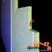 ЗИПС-Z4 сэндвич-панель 1200х600х42,5мм (0.72 м²) (крепеж в комплекте)