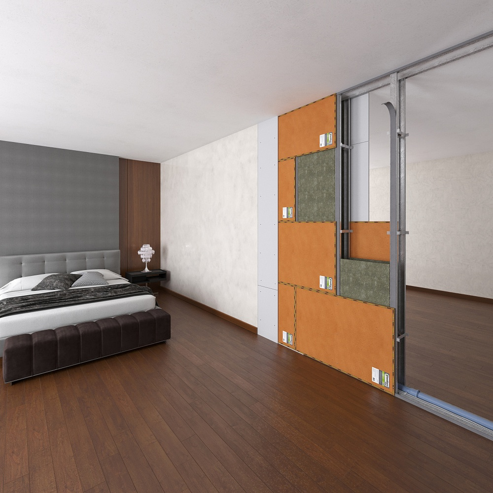 Звукоизоляционная перегородка для гостиниц ~2262 руб. за м²