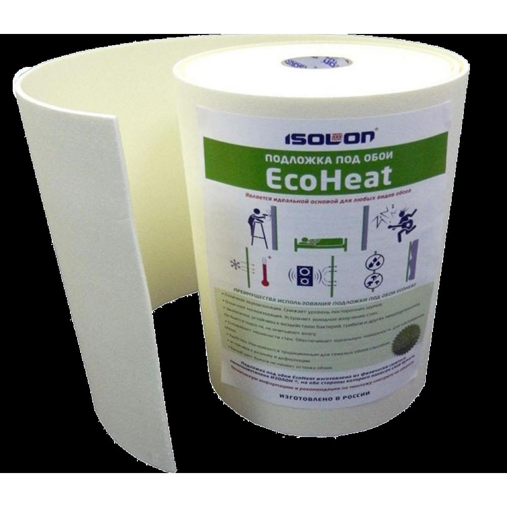 Изолон ЕcoНeat Тепло - звукоизоляционная подложка под обои (7м²)