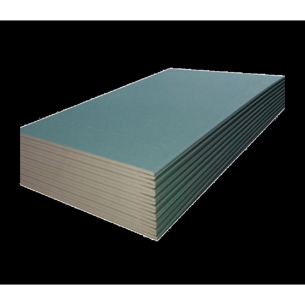 Гипсокартонный лист влагостойкий (ГКЛВ) Кнауф 2500х1200х12,5 мм