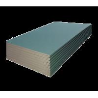 Гипсокартонный лист влагостойкий (ГКЛВ) Кнауф 1200х2500х9,5 мм