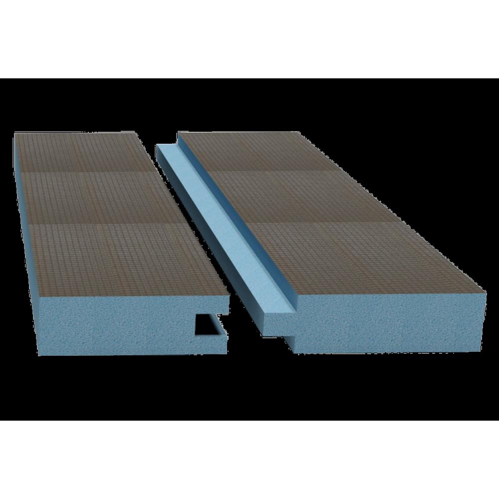 Руспанель РПГ двухсторонняя Кромка шип-паз 2485х585х50 мм (1,45 м²)