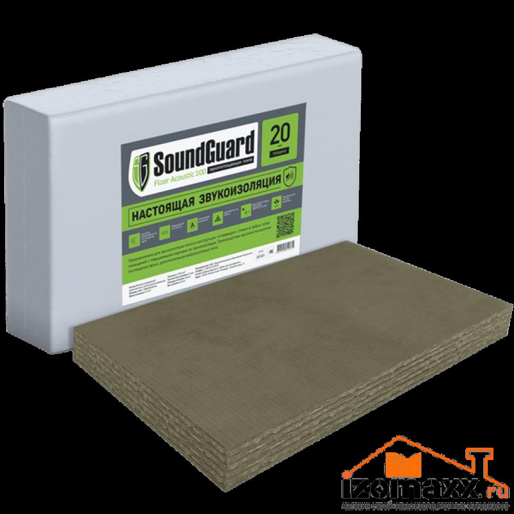 SoundGuard Floor Acoustic 100 минеральная плита  (5,76 м²)