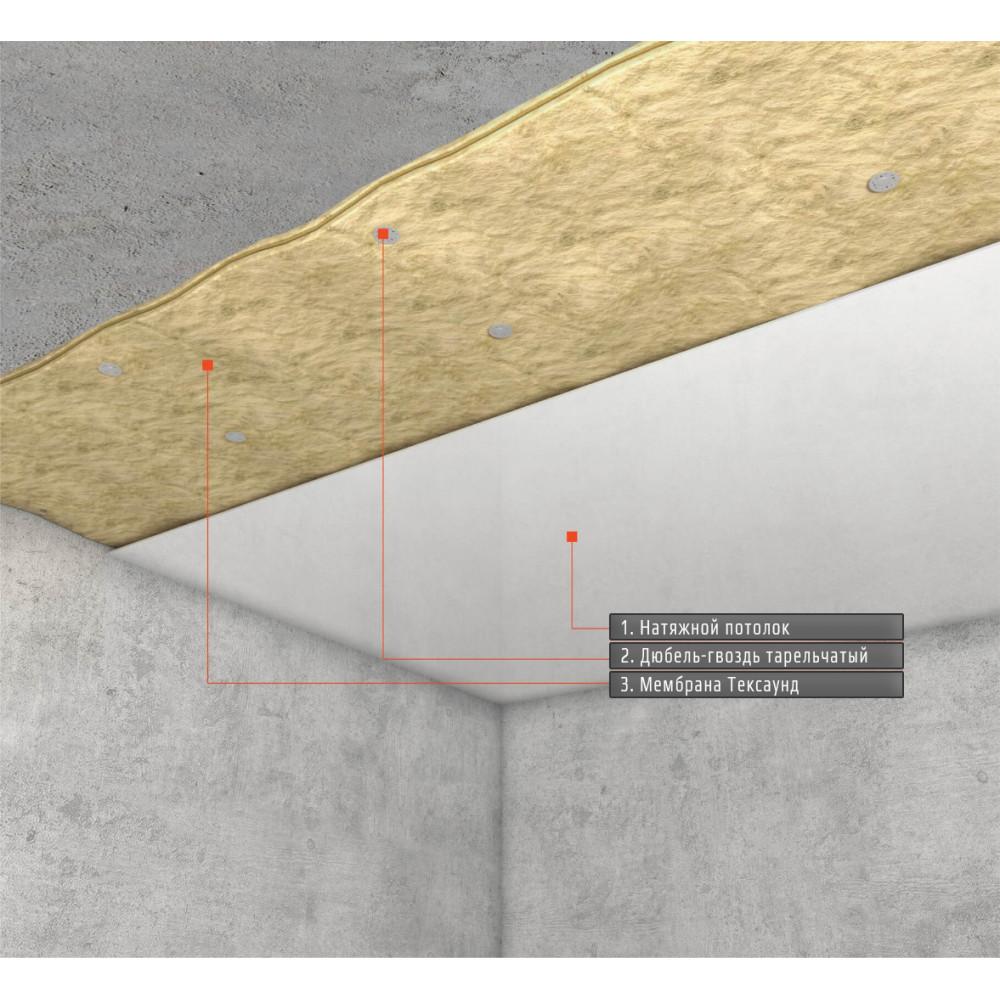 """Звукоизоляция под натяжной потолок """"Стандарт М"""" ~3717 руб. за м²"""