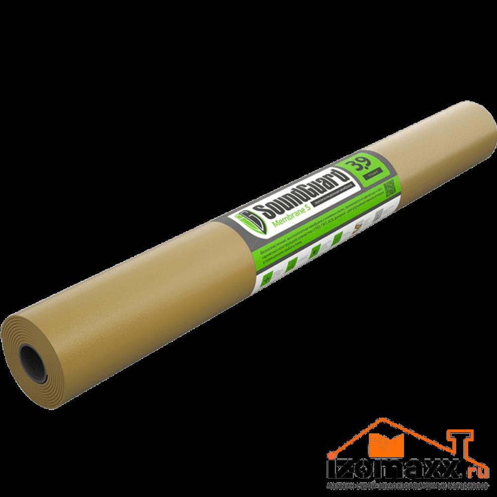 Мембрана SoundGuard Membrane 3.9 S 2500*1200*3.9 мм (3 м²), самоклеющаяся