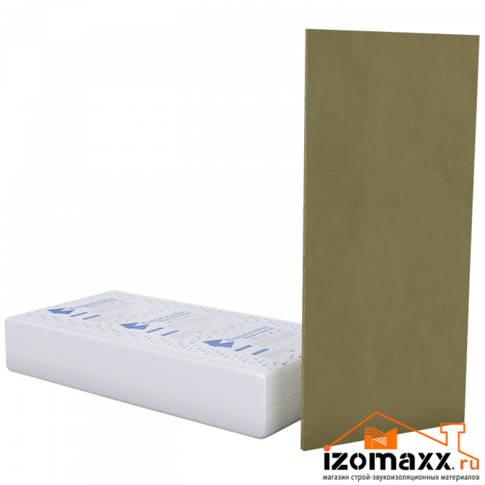 БасАкустик УНИ 50 вибро-звукопоглощающая плита 1250x600x50 мм (3м²) 4шт.