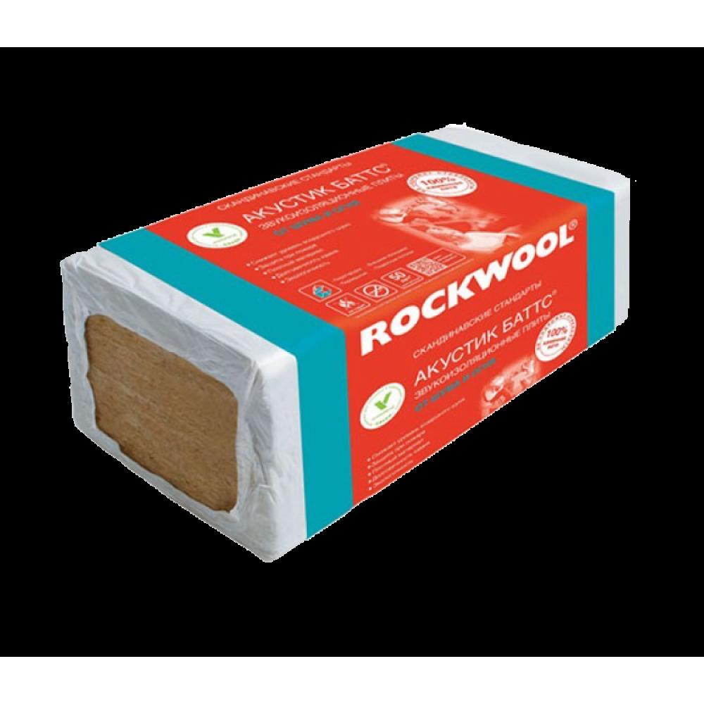 Роквул (Rockwool) АКУСТИК БАТТС 1000х600х50 мм (6 м²)