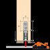 Planet HS-plus (710мм-835мм) порог звукоизоляционный