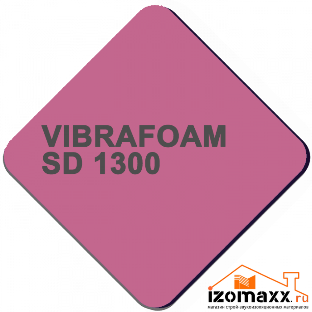 Vibrafoam SD 1300 (Фиолетовый) 2000x500x25 (1м²)