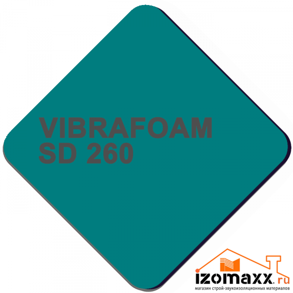 Vibrafoam SD 260 (Бирюзовый) 2000x500x12,5 (1м²)